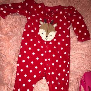 Christmas themed pajamas - 6m